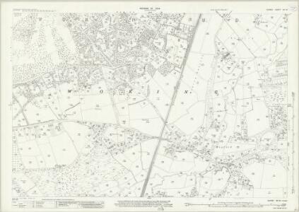 Surrey XVI.16 (includes: Woking) - 25 Inch Map