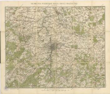 Vilímkova podrobná mapa okolí pražského : s přílohou Polodenní a celodenní výlety do okolí pražského