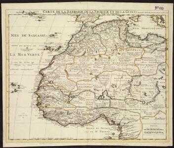 Carte de la Barbarie de la Nigritie et de la Guinée