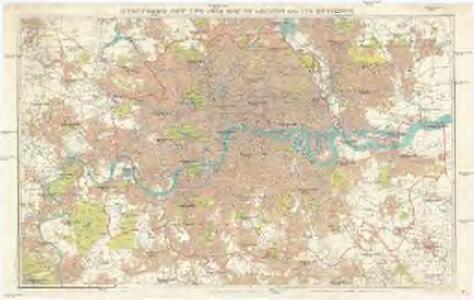 Stanford's new two inch map of London and its environs