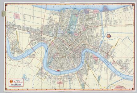 Shell Street Map of New Orleans.