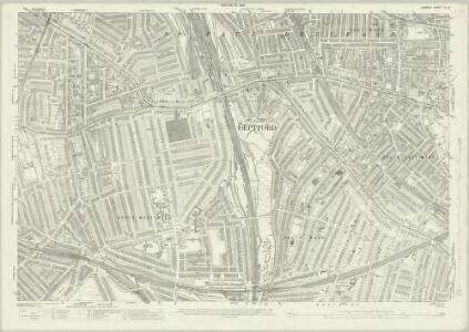 London (1915- Numbered sheets) IX.8 (includes: Deptford St Paul) - 25 Inch Map