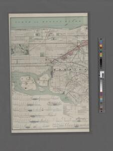 Map of the Harlem River and Spuyten Duyvil Creek from Ward's Island to the Hudson River, showing project for a covered waterway 60 feet wide to be built on the west line of the Harlem River from the easterly side of Third Avenue to 165th street, New Y...