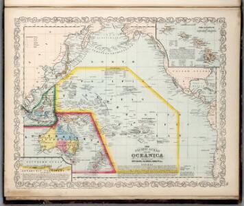 Pacific Ocean including Oceania.