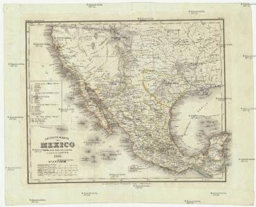 Neueste Karte von Mexico