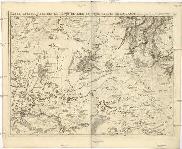 Carte particuliere des environs de Lier et d'une partie de la Campine