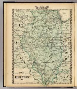 Official railroad map of Illinois.