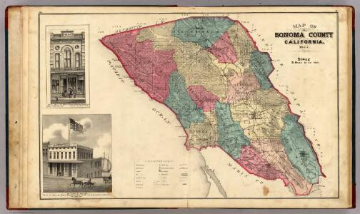 Map of Sonoma County California.