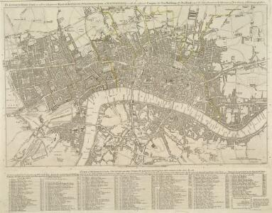 The LONDON DIRECTORY, or a New & Improved PLAN of LONDON, WESTMINSTER, & SOUTHWARK; 182