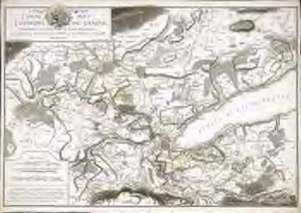 Carte des environs de Genêve