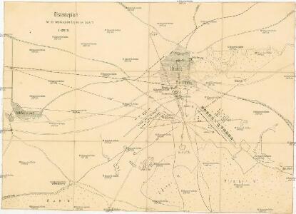 Distanzplan für die Umgebung des Lagers bei Bruck a[n]/L[eitha]