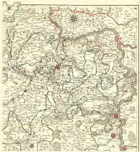 Carte Particuliere de Pays qui sont situéz entre le Rhein, la Saare, la Moselle, et la Basse Alsace
