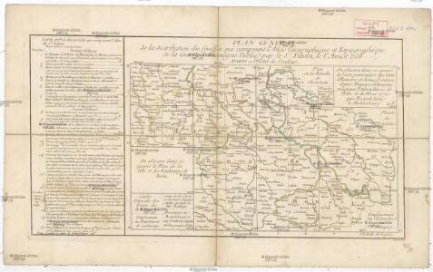 Plan géneral de la distribution des feuilles qui composent l'Atlas géographique et topographique de la guerre d'Allemagne