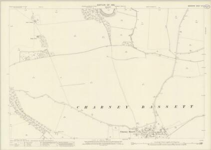 Berkshire IX.9 (includes: Charney Bassett; Hinton Waldrist; Longworth; Pusey; Stanford in The Vale) - 25 Inch Map