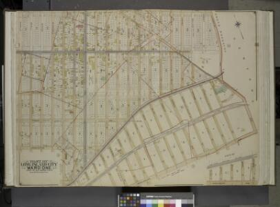 Queens, Vol. 2, Double Page Plate No. 6; Part of Long Island City Ward One (Part of Old Wards Two and Four); [Map bounded by Jamaica   Ave., Old Bowery Bay Road, Woodside Ave., Middleburg Ave., Van Buren St., Lowery St.; Including Bragaw St., Harold S