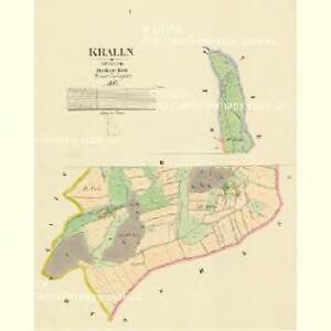 Kralln - c3495-1-001 - Kaiserpflichtexemplar der Landkarten des stabilen Katasters