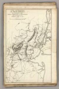 Septentrionale du New Jersey, et Positions des Armees Americaine et Britannique en 1776.