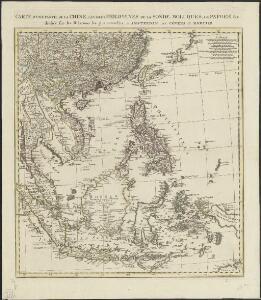 Carte d'une partie de la Chine, les isles Philippines, de la Sonde, Moluques, de Papoesi etc. dressée sur les relations les plus nouvelles
