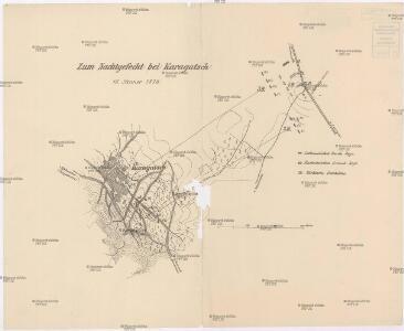 Zum Nachtgefecht bei Karagatsch 16. Jänner 1878