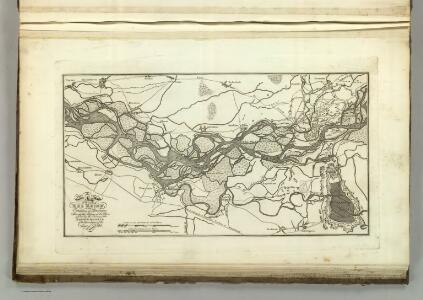 Map of the Course fo the Rhine, in the Environs of Strasbourg.