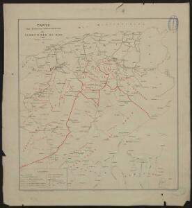 Carte des divisions administratives des territoires du sud