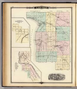 Map of Calumet County, State of Wisconsin, and Gravesville and Chilton.