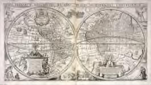 Orbis terrarvm descriptio duobvs planis hemisphæriis comprehensa