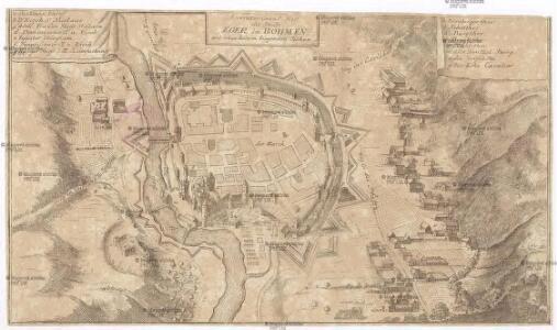Accurater Grund-Riss der Stadt Eger in Böhmen