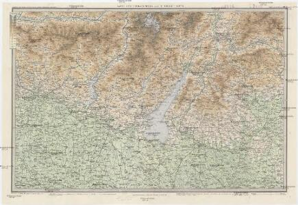 Karte der Lombardischen und Süd-Tiroler-Alpen