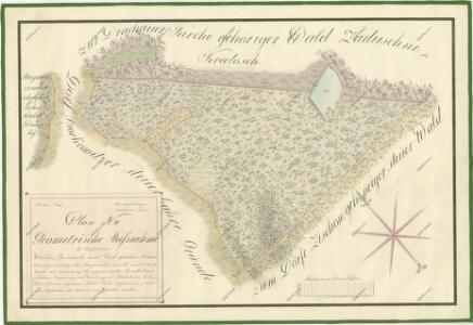 Geometrický plán lesa Kratoš a přilehlých činžovních pozemků 1