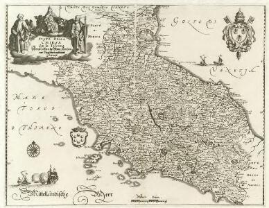Stato della Chiesa Con la Toscana Herschafften der Röm: Kirchen vnd Gros-hertzogthumb Florentz