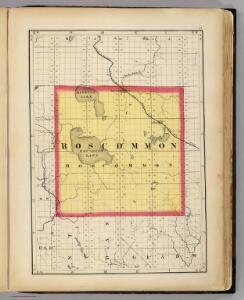 (Map of Roscommon County, Michigan)