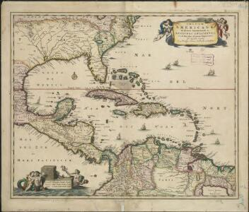 Insulae Americanae in Oceano Septentrionali ac regiones adiacentes, a C. de May usque ad Lineam Aequinoctialem