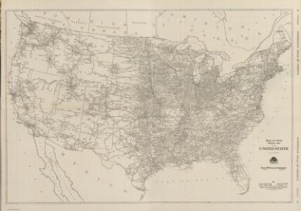 Composite:  Black and White Mileage Map of the United States.