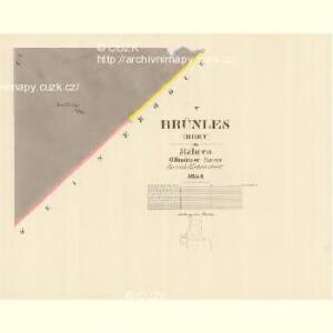 Brünles (Brey) - m0217-1-005 - Kaiserpflichtexemplar der Landkarten des stabilen Katasters