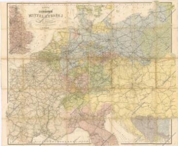 Karte der Eisenbahnen Mittel - Europa ́s ...