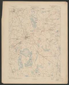 Middleborough quadrangle, Massachusetts