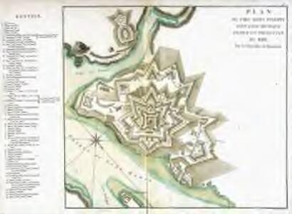 Plan du Fort Saint Philippe dans lisle Minorque