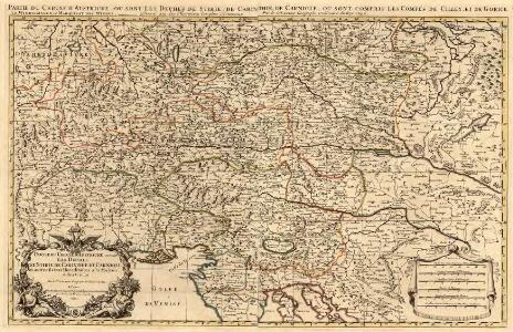 Partie du Cercle d'Austriche, ou sont Les Duchés de Stirie, de Carinthie, de Carniole