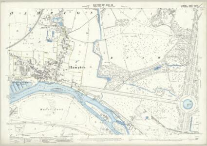 London (Edition of 1894-96) CXXXIX (includes: East Molesey; Twickenham St Mary The Virgin; West Molesey) - 25 Inch Map
