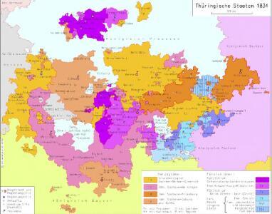 Thüringische Staaten 1834