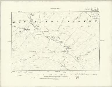 Cardiganshire XXXV.NW - OS Six-Inch Map