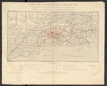 Carte de la partie de l'Andalousie éprouvée par le tremblement de terre du 25 décembre 1884
