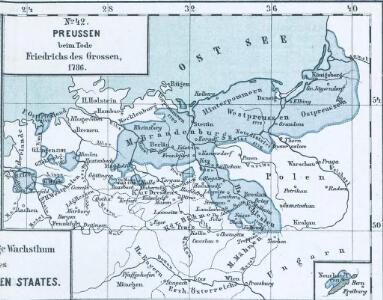 Das allmälige Wachsthum des preussischen Staates. No. 42 Preussen beim Tode Friedrichs des Grossen, 1786