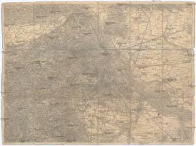 Umgebungs - Karte von Wien