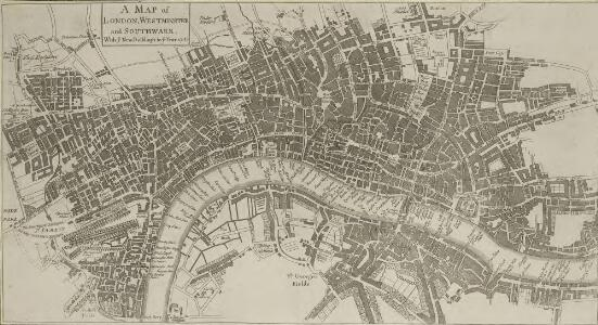 A MAP of LONDON, WESTMINSTER and SOUTHWARK. With ye New Buildings to ye Year 1733