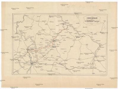 Uibersichtskarte für die Turnau-Kraluper Eisenbahn