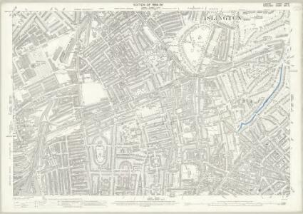 London (Edition of 1894-96) XXXIX (includes: Islington) - 25 Inch Map