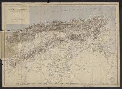 Algérie et Tunisie : d'après les documents fournis par le Dépôt de la guerre (Service géographique) : orthographe des noms arabes d'après les principes du Général Parmentier