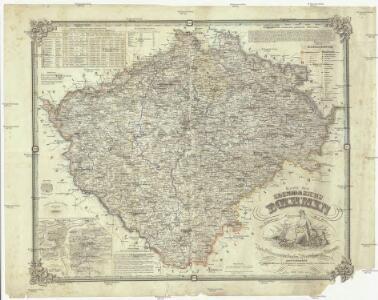 Karte des Koenigreichs Boehmen